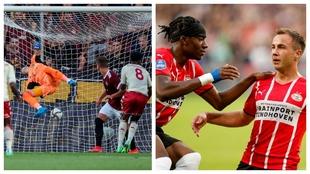 Tchouaméni marca para el Mónaco y Götze para el PSV.