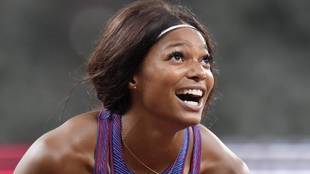 Gabrielle Thomas tras conquistar el bronce