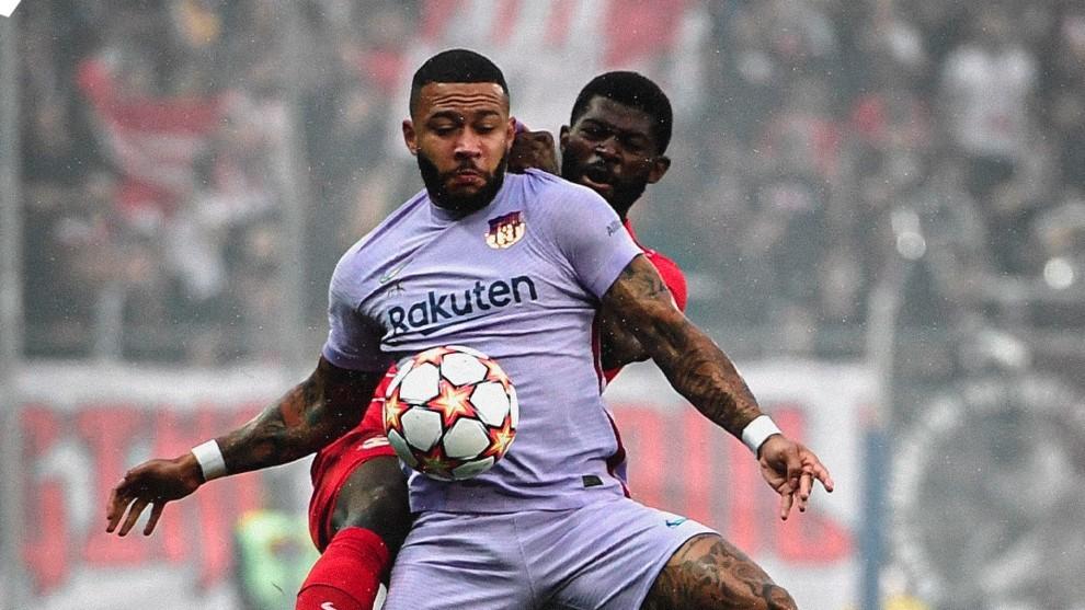Memphis, en una acción contra el RB Salzburg