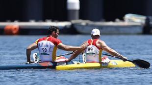 Arévalo y Craviotto tras la final de los Juegos Olímpicos.