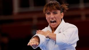Sandra Sánchez, en su debut olímpico en Tokio.