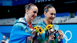Las ucranianas Marta Fiedina y Anastasiya Savchuk, bronce