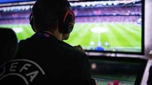 Una imagen del VAR durante un partido.