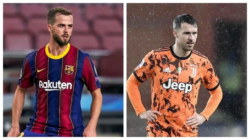 Pjanic y Ramsey, uno puede salir y otro llegar a la Juve.