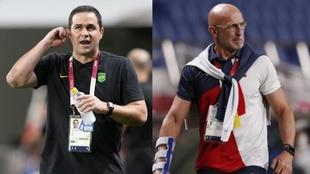 André Jardine y Luis de la Fuente, seleccionadores de Brasil y...