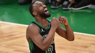 Kemba Walker, en un partido de los Celtics.
