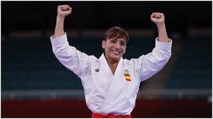 Sandra Sánchez, tras ser medalla de oro.