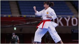 Sandra Sánchez, durante la final olímpica.
