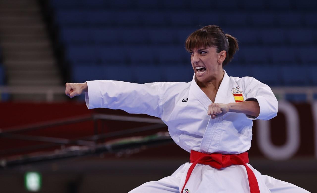 Sandra Sánchez, en la final olímpica.