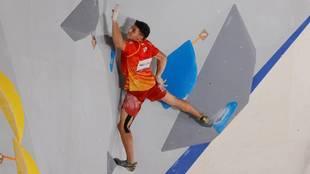 Alberto Ginés en un momento de la prueba de velocidad