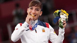 Sandra 'kata' el oro olímpico