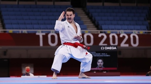 Damián Quintero, en su debut olímpico en el Nippon Budokan.