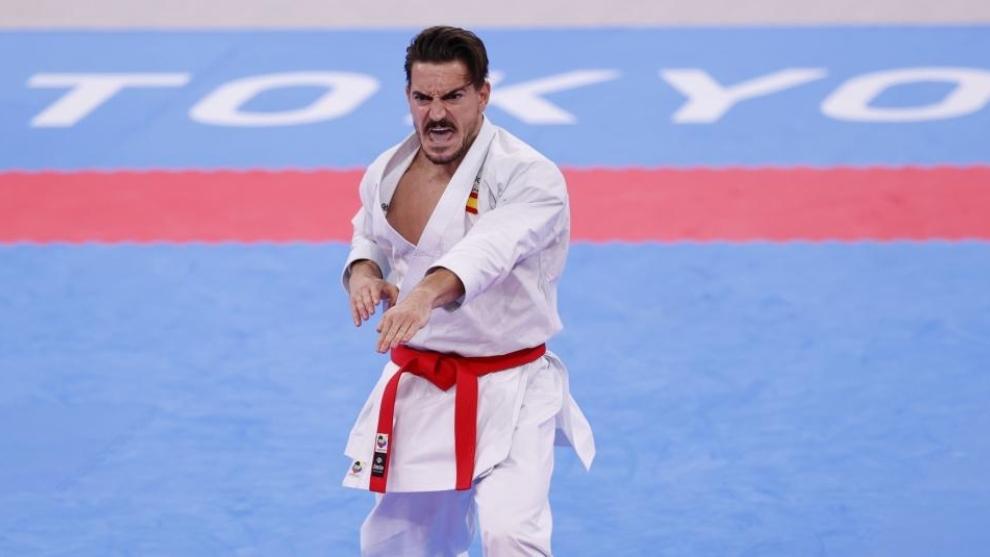 Damián Quintero, en el tatami olímpico de Tokio 2020.
