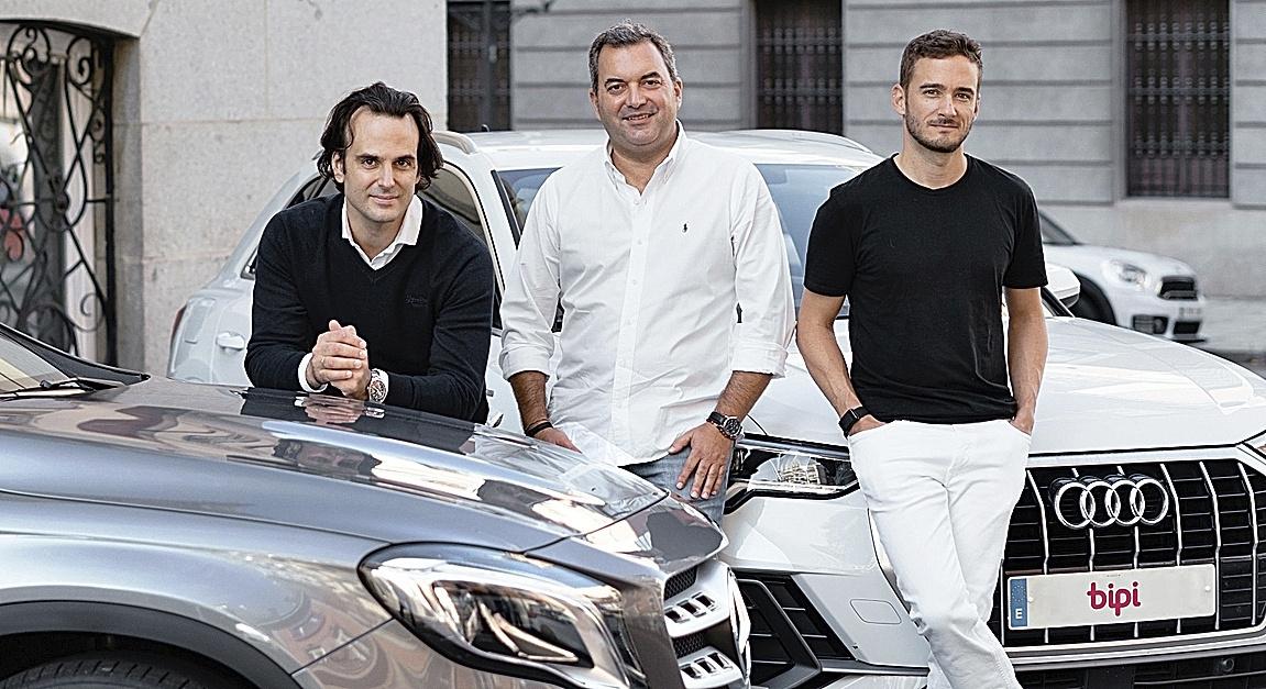 El equipo fundador de Bipi: Alejandro Vigaray, José Luis Hernández y Hans Christ.