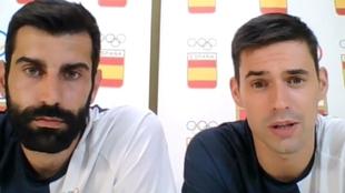 Los internacionales Rodrigo Corrales y Ángel Fernández /