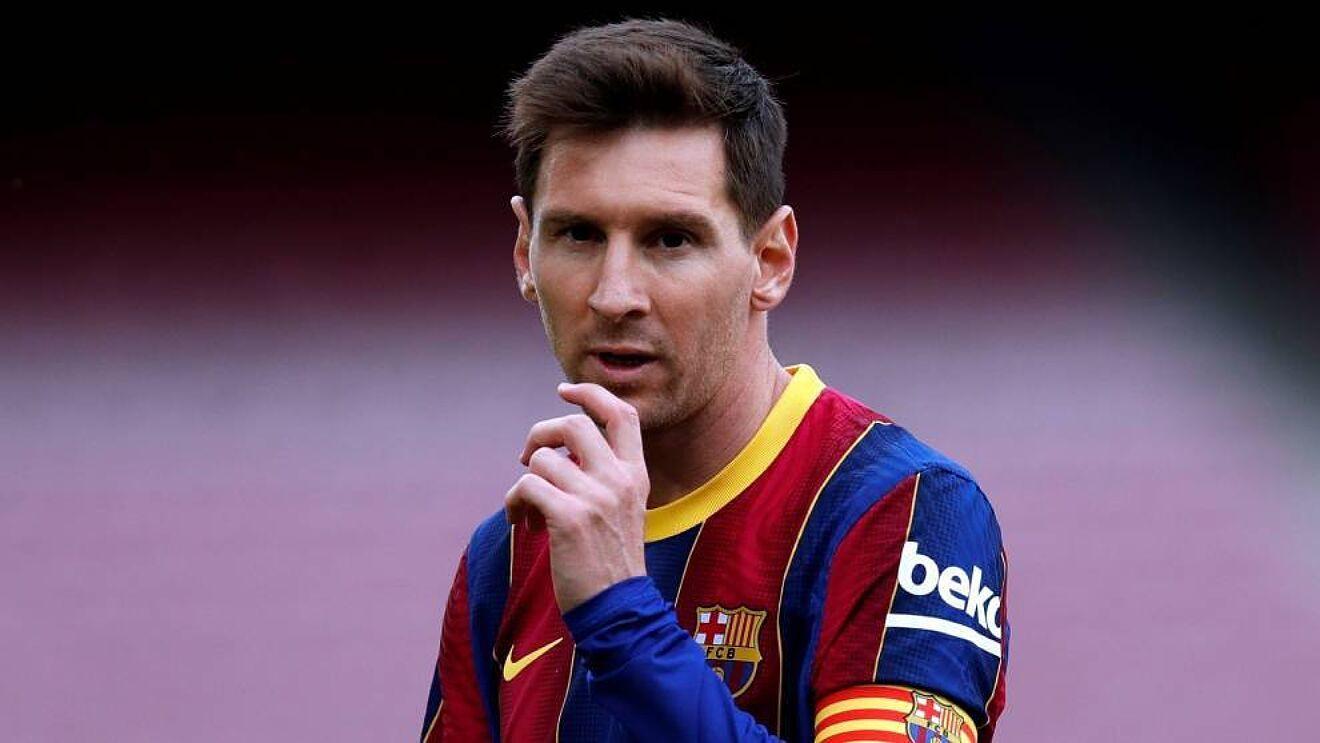 Leo Messi en un partido con el FC Barcelona el año pasado.