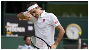 Roger Federer en el último partido que ha jugado, en Wimbledon.