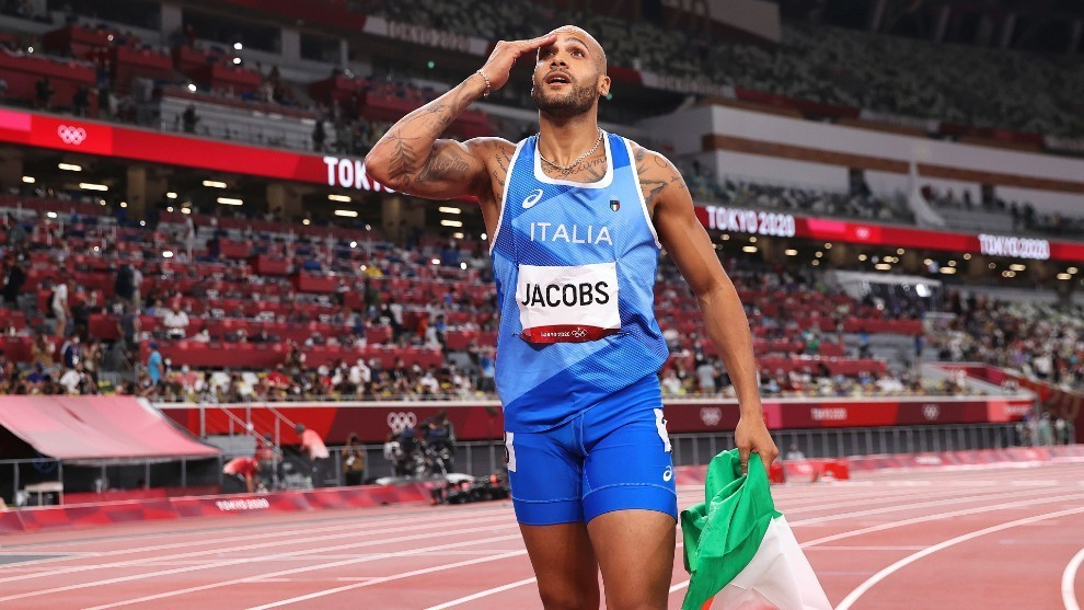 Jacobs celebra el oro
