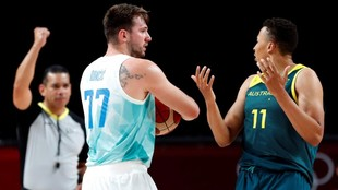 Doncic unable to claim a medal.