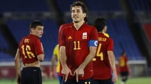 Mikel Oyarzabal tras el gol del empate
