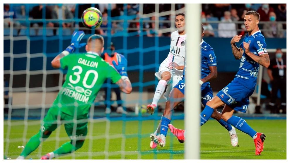 El golazo de Achraf Hakimi contra el Troyes.
