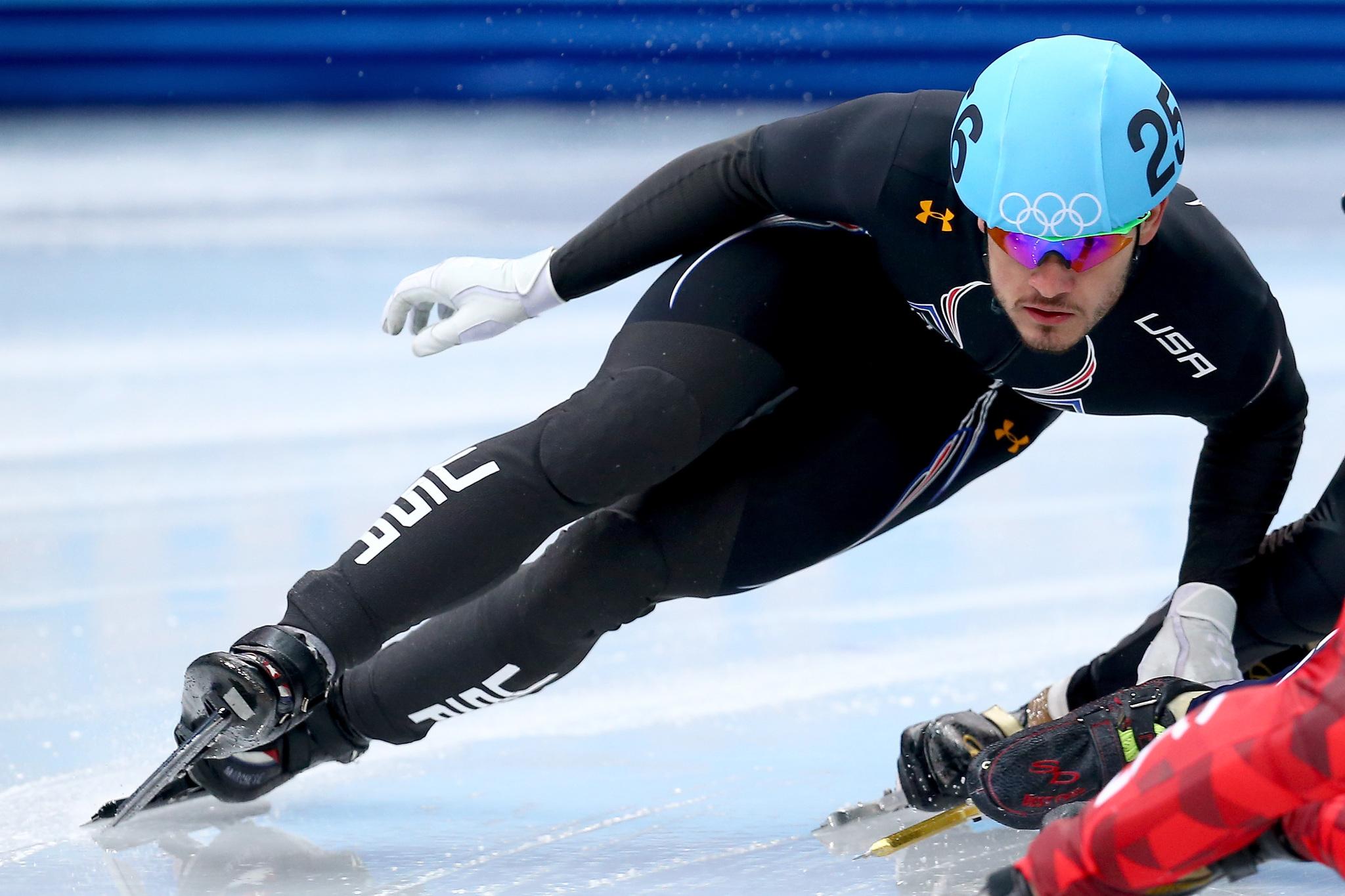 Eddy Álvarez, en los Juegos de Sochi.