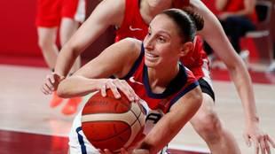 Diana Taurasi durante la final ante Japón