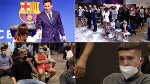 En el 'backstage' del adiós de Messi: el pañuelo de Antonela, sus hijos, la camiseta de Dest...