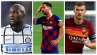 Lukaku, Messi y Dzeko.