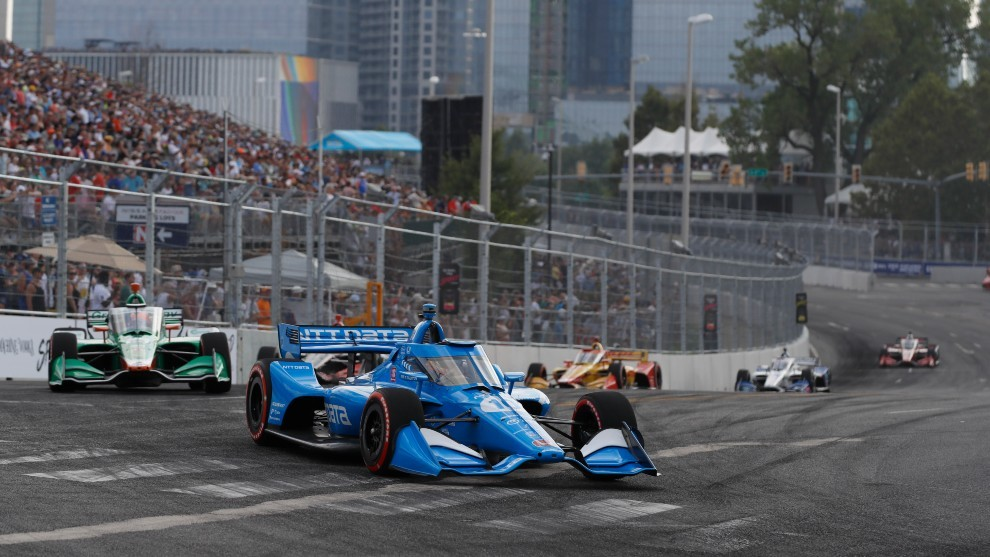 Alex Palou - Nashville - accidente - Indycar - Music City GP