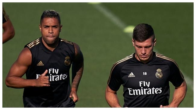 Luka Jovic y Mariano Díaz, delanteros del Real Madrid