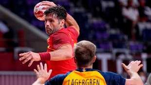 Antonio García, en el partido de cuartos de final ante Suecia /