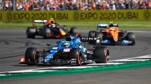 Fernando Alonso en Silverstone 2021