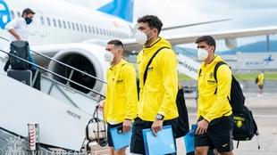 Los jugadores del Villarreal ya están en Belfast.