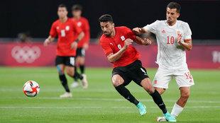 Dani Ceballos, durante el partido ante Egipto