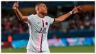 Mbappé, durante el primer partido de la Ligue 1
