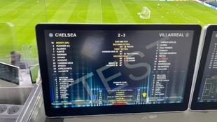 Monitor en el estadio Windsord Park de Belfast.