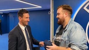 Leo Messi, con Ibai Llanos