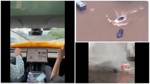 Tesla - Modo lancha - Inundaciones en China - Tesla Model S - Model 3