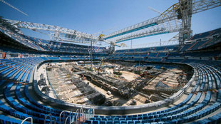 La obra del Bernabéu, a contrarreloj