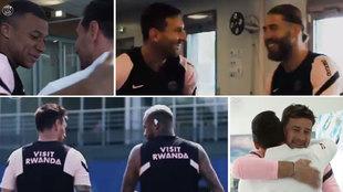 Primer día de Messi como 'futbolista' en París: saludo de respeto a Mbappé, complicidad con Ramos y Ney...