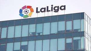Fachada de la sede de LaLiga, que es donde se ha celebrado la...