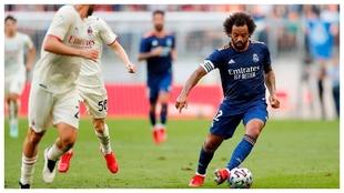 Marcelo, en el partido amistoso ante el Milan.