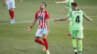 Cristian Herrera, en el partido del Lugo que jugó en Fuenlabrada.