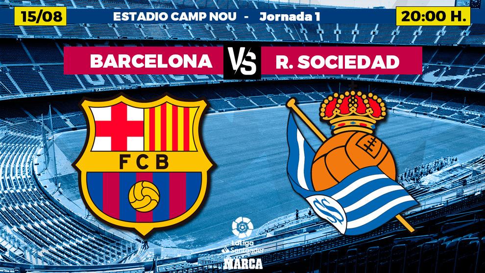 Barcelona-Real Sociedad, en directo: esperando los onces