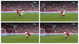Luca Zidane la lía en su segundo partido en Primera: penalti y roja
