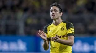Thomas Delaney, en un partido con el Borussia Dortmund.