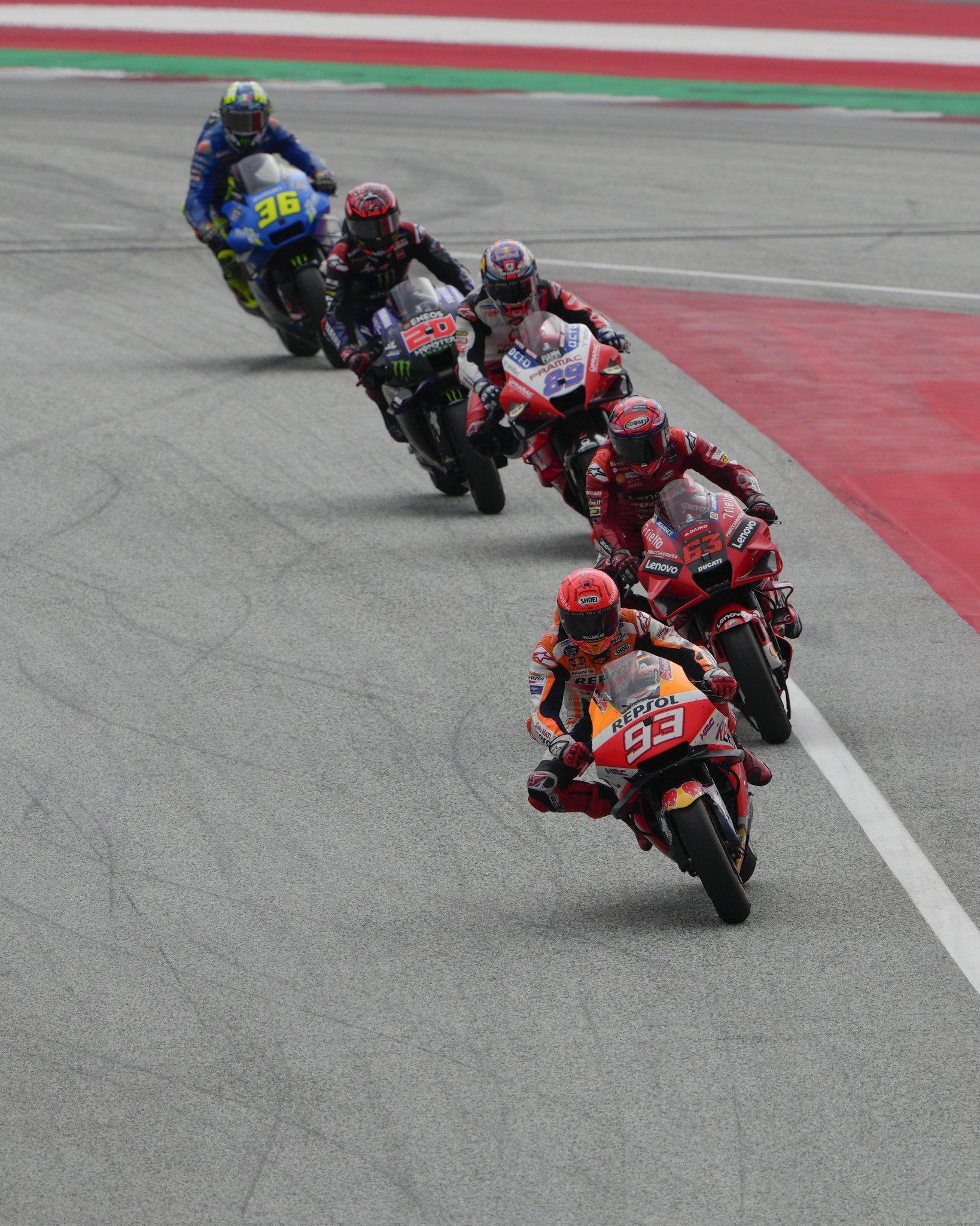 Marc, liderando el grupo de cabeza en el Red Bull Ring.