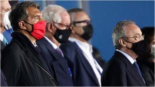 Joan Laporta y Florentino Pérez, dos de los tres presidentes que...