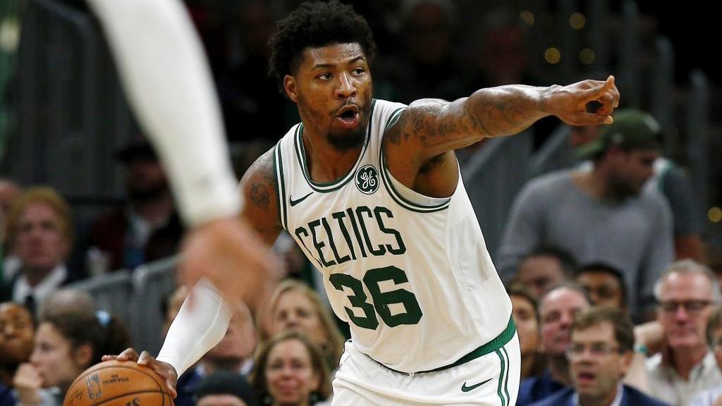 Marcus Smart,en un partido de los Celtics.